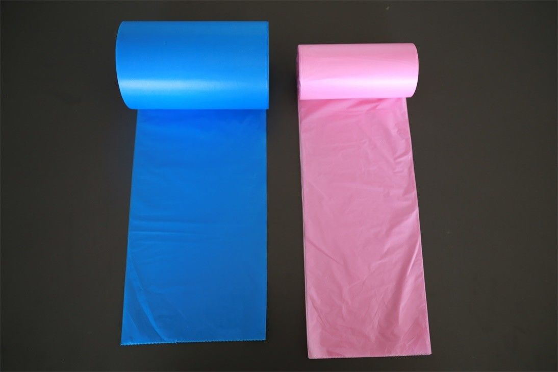 LDPE / HDPE Plastic Garbage Bags Biodegradable , Strength Custom Rubbish Bags