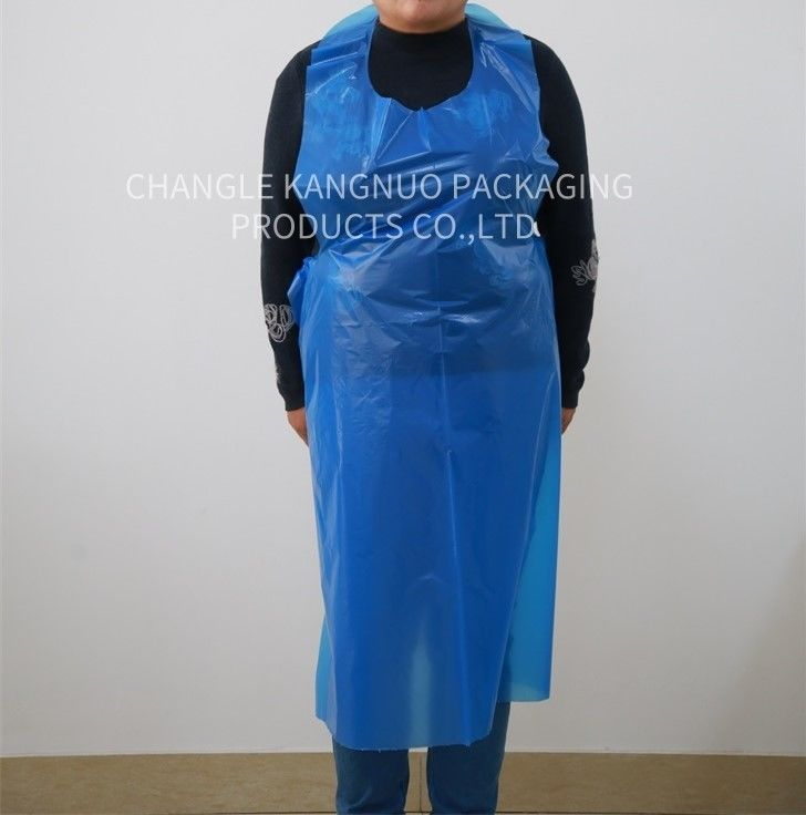 Waterproof Polythene Blue Disposable Aprons On A Roll Coloured Free Samples