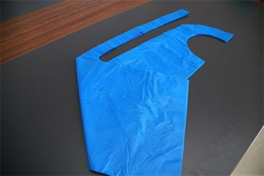 PE Material Flat Packed Disposable Plastic Aprons For Adults CE Certificate 75x125cm