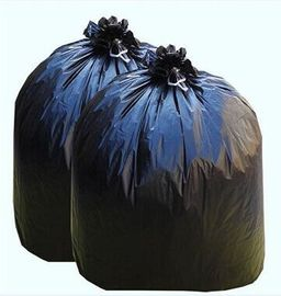 China Black Plastic Garbage Bags Disposable Trash Bags Flat Packing Or Roll Packing factory