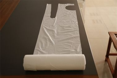 Disposable White Plastic Aprons On Roll Antibacterial For Painting / Coating Industry