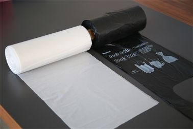 White / Black Disposable Polyethylene Trash Bags On Roll For House Cleaning