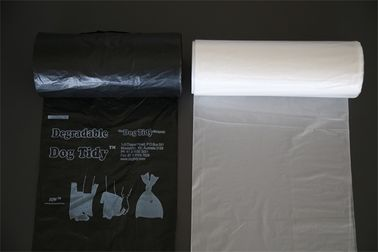 Economy Black HDPE Bin Liners , Clear Garbage Bags Eco Friendly Roll Pack