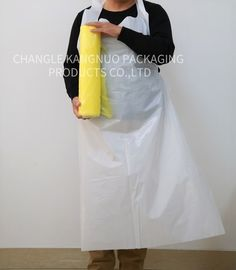 China Polythene Disposable Plastic Aprons Hairdressing Capes Customized Size factory