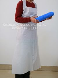 White Disposable Plastic Aprons On A Roll , Waterproof Hygiene Surgical Apron
