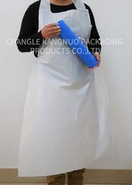 China Medical Disposable White Plastic Aprons On The Roll , Colored Hygiene PE Aprons factory