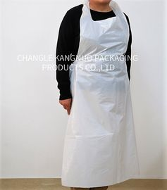 China Flat Protection White Color Disposable Medical Aprons 0.01-0.1mm Thickness factory