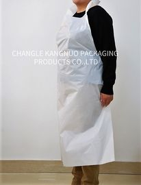 China Flat Disposable Medical Aprons , Waterproof White Disposable Aprons Long Life factory