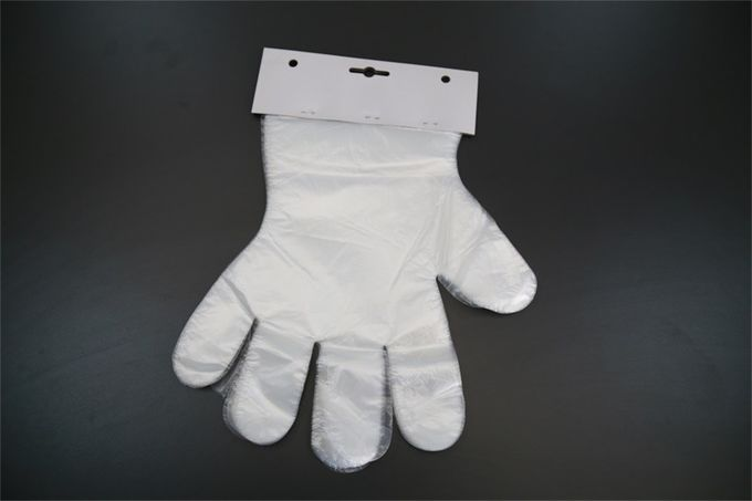 Biodegradable Disposable Polythene Gloves , Disposable Food Prep Gloves