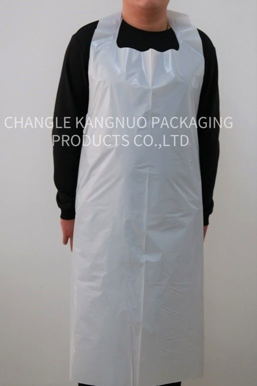 Adults Disposable PE Aprons White Color HDPE LDPE Embossed On The Roll